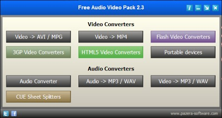 Free Audio Video Pack v.2.3 - бесплатный конвертер аудио- и видео-файлов