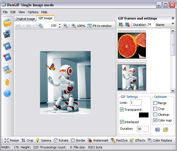 ReaGif - image converter to Gif 2.0