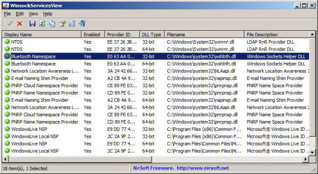 WinsockServicesView  1.0